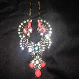 Colorful jewel necklace
